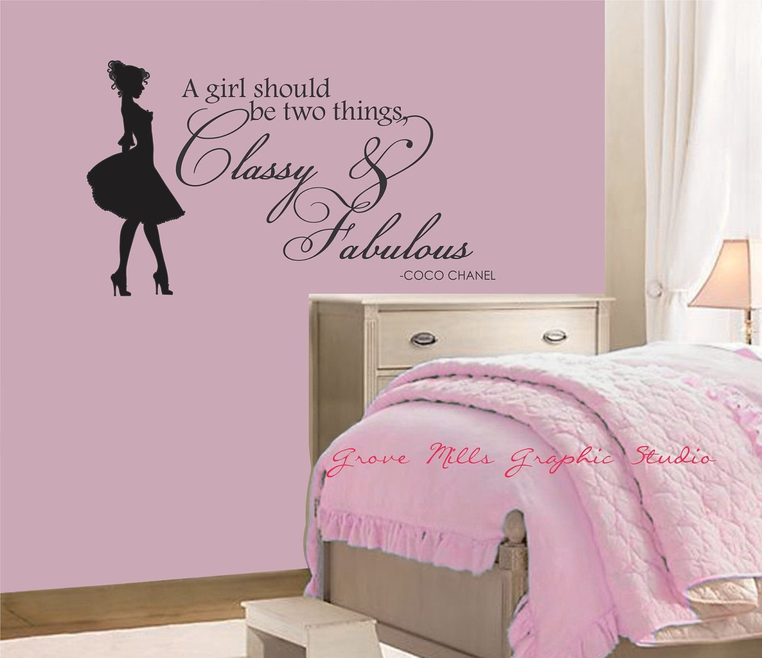Best Classy And Fabulous Wall Decal Coco Chanel Wall Quote With Pictures