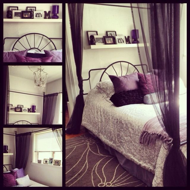Best My Bedroom Purple Black Grey And White My Stuff Pinterest Bedrooms Gray And Black With Pictures