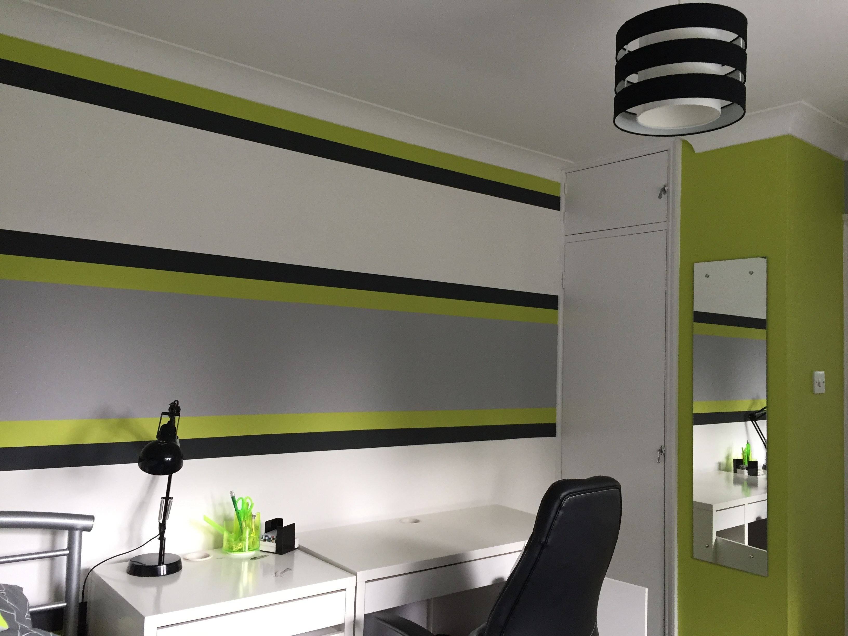 Best Lime Green Grey Boy S Bedroom Boys Bedroom Bedroom With Pictures