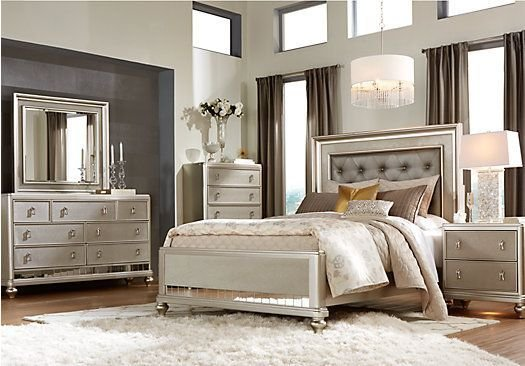 Best Shop For A Sofia Vergara Paris 5 Pc Queen Bedroom At Rooms With Pictures