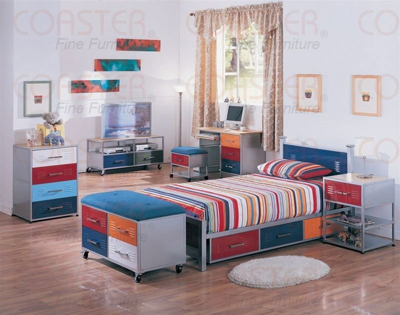 Best Youth Locker Bed Boys Room Kids Locker Bed Storage Bedroom Sets With Pictures