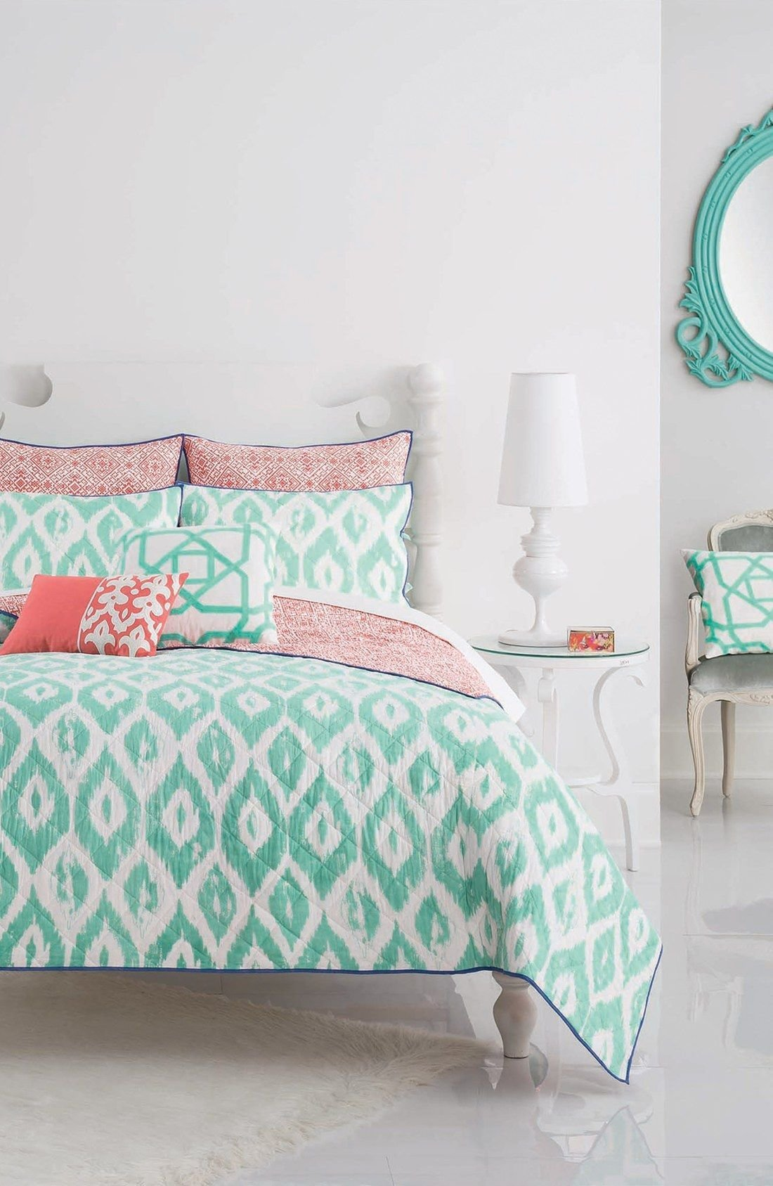 Best Loving The Turquoise And Coral Bedding Paired Together For With Pictures