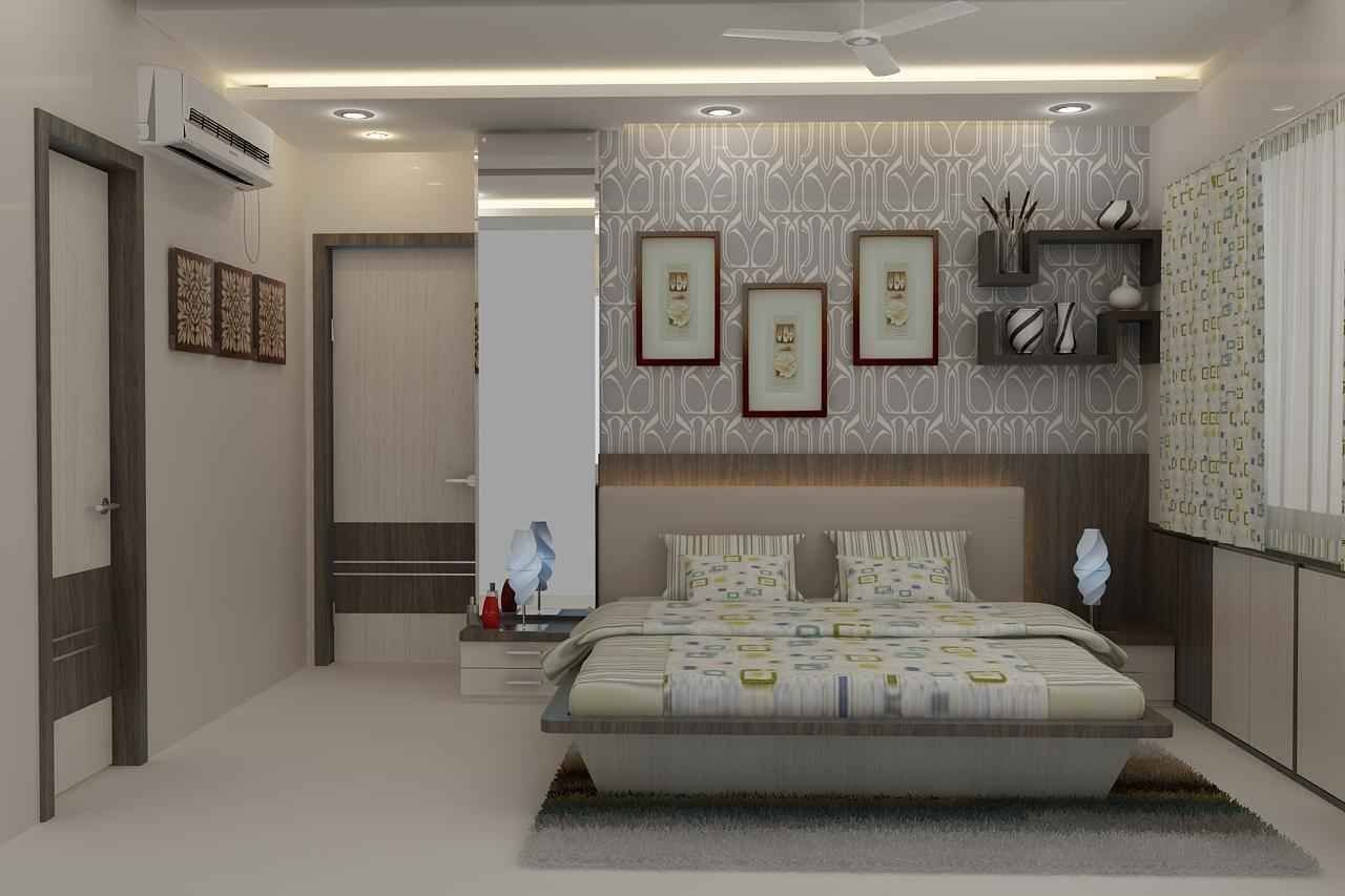 Best Master Bedroom With Wallpaper Design By Mahendra Jadeja With Pictures