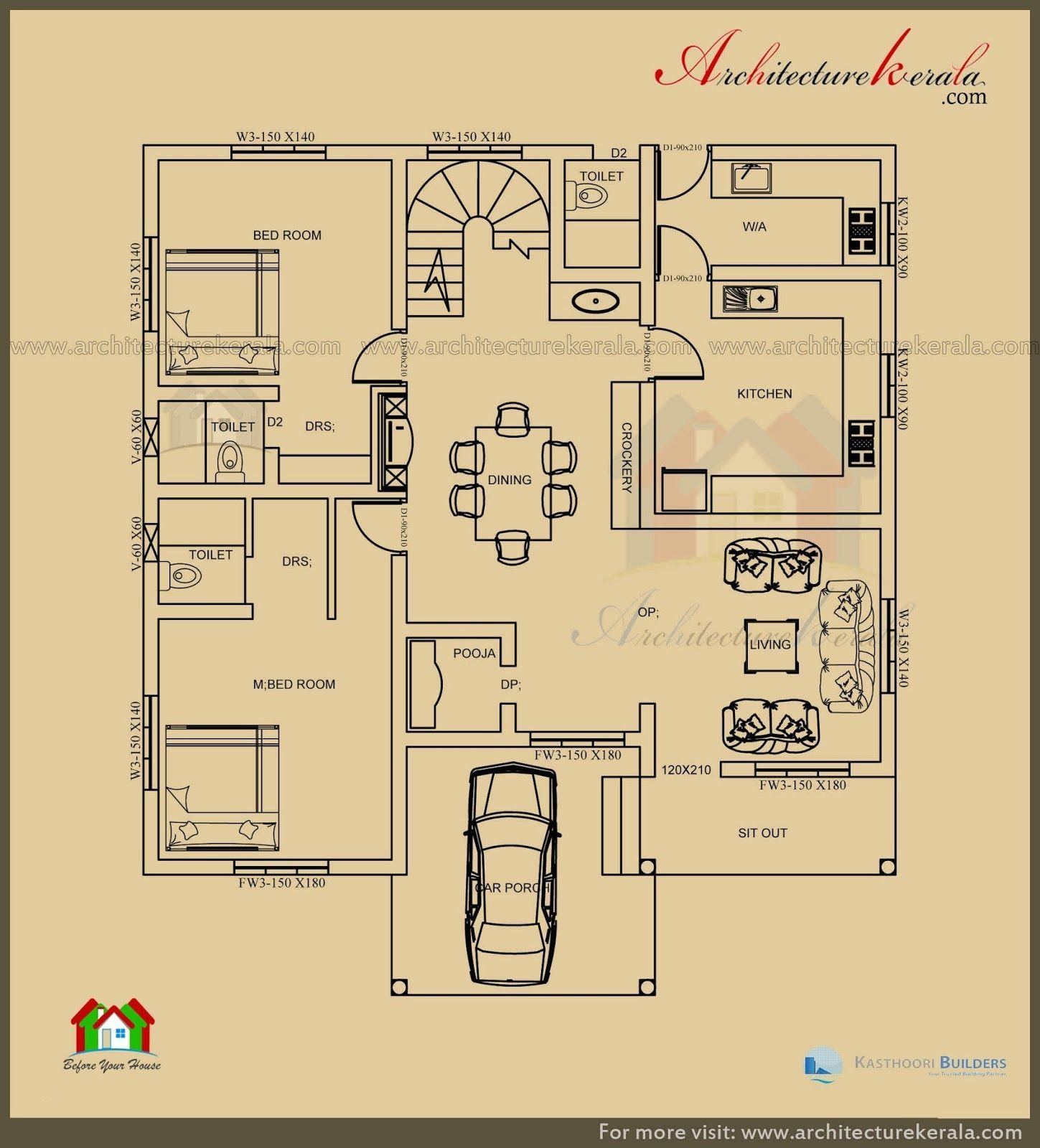 Best Unusual Inspiration Ideas Architectural House Plans Kerala With Pictures