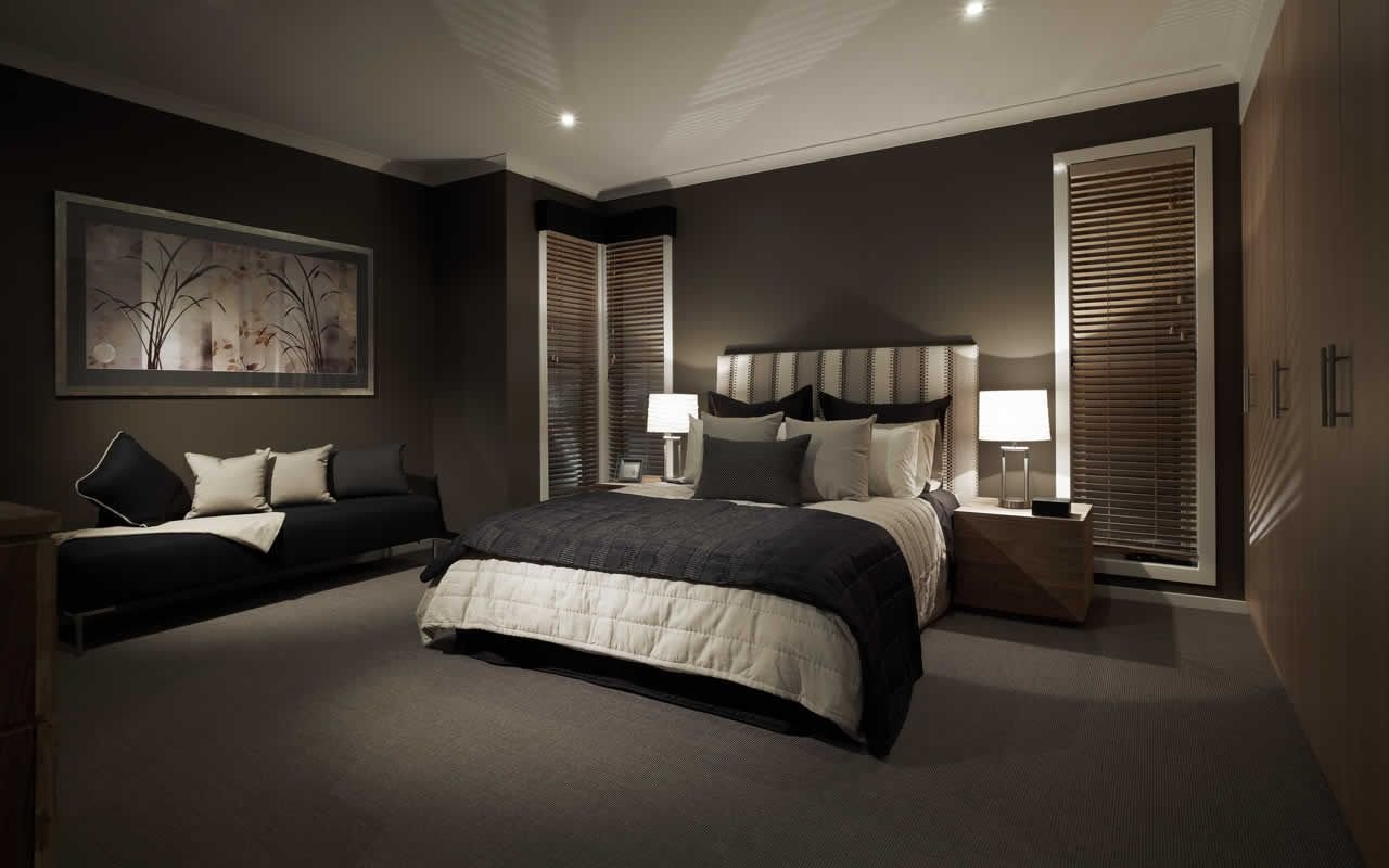Best Black Dark Feature Wall Bedroom S*Xy Elegant Sleek Bedroom Black Bedroom Design Feature With Pictures