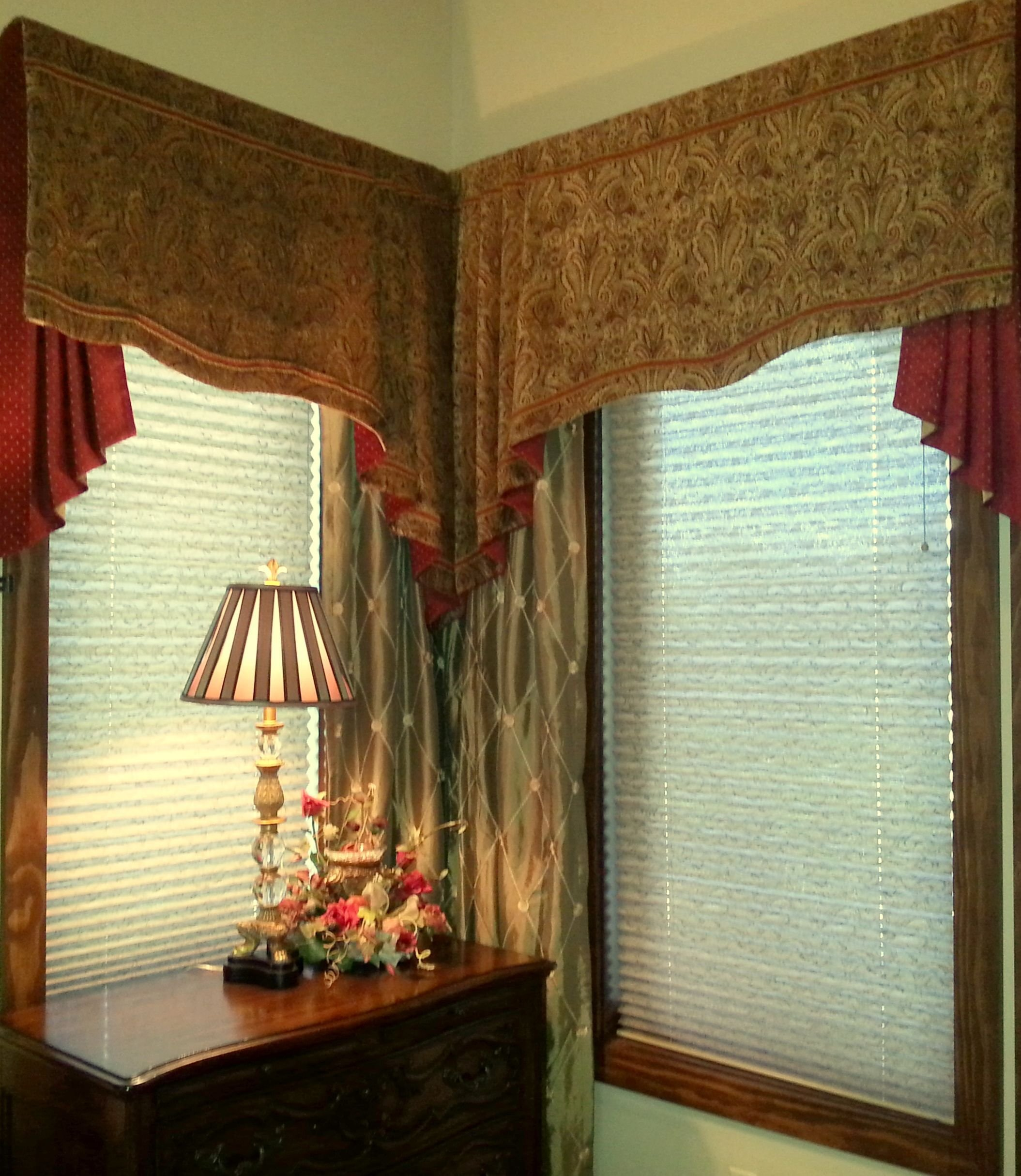Best Swag Valance And Jabot With Drapery Panels In Master With Pictures