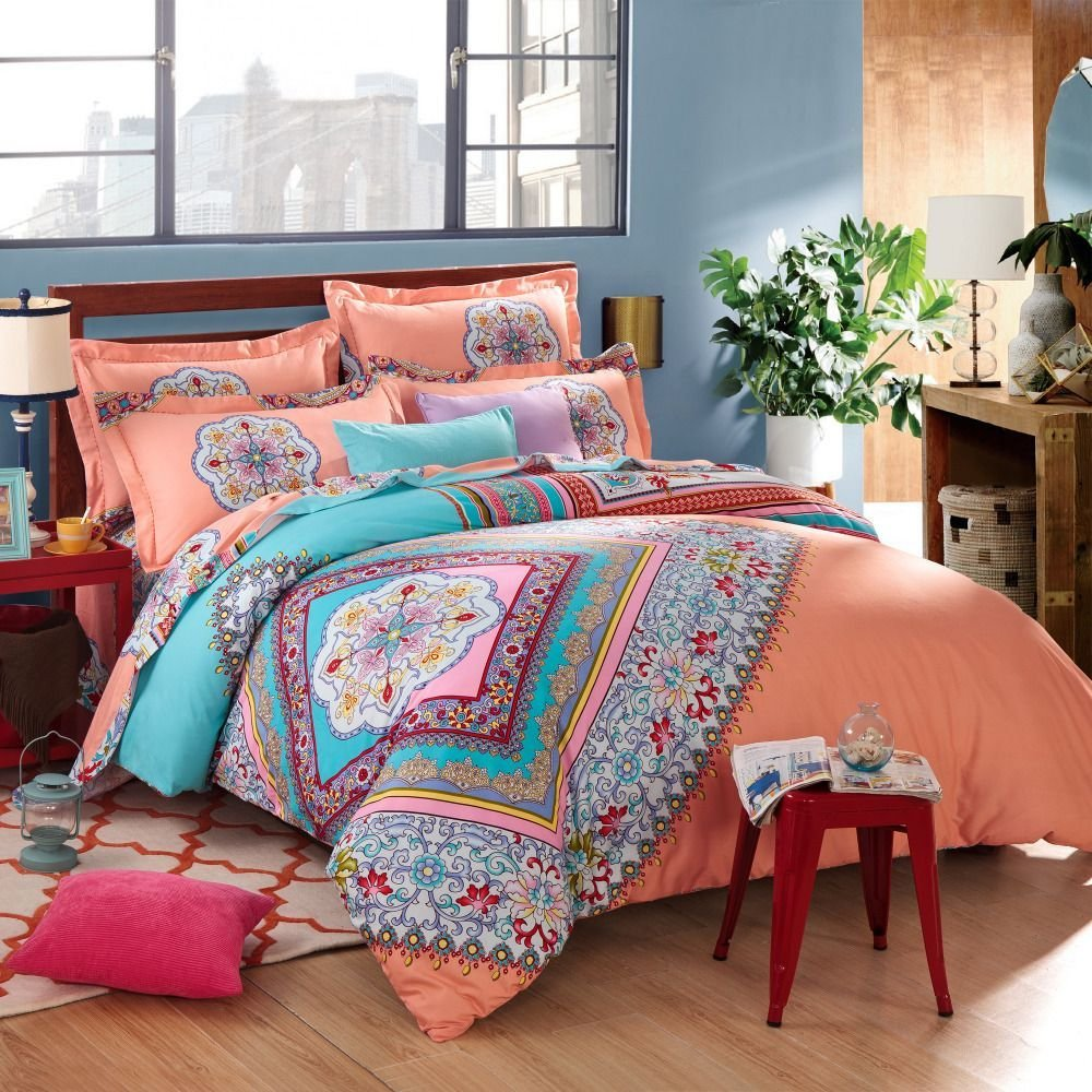 Best Beautiful Bohemian Comforter With Luxury Colors For With Pictures
