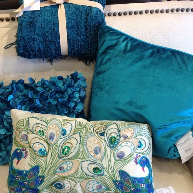 Best Bedroom Pillows Love This Peacock Blue Color My Favorite Pier 1 Beauties Peacock Room With Pictures