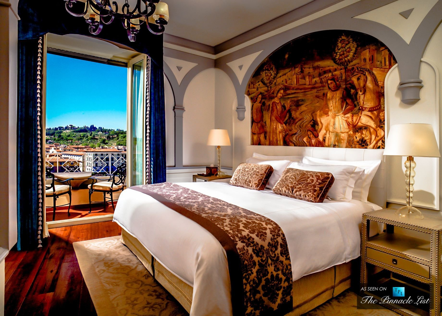 Best Florence Italy St Regis Luxury Hotel Grand Deluxe Suite Palazzo Vecchio Master Bedroom With Pictures