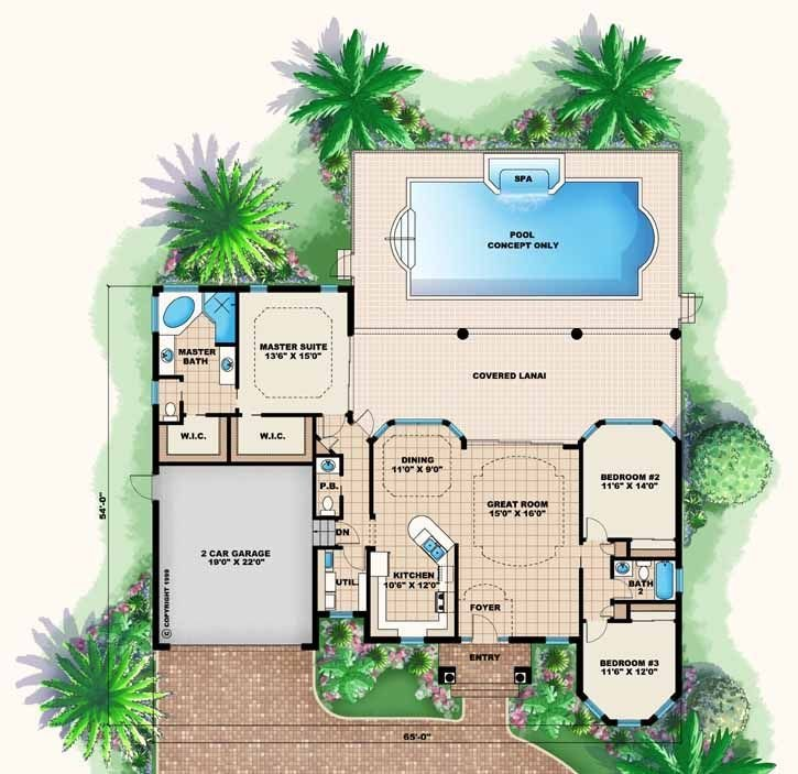 Best Florida Style House Plans 1786 Square Foot Home 1 With Pictures