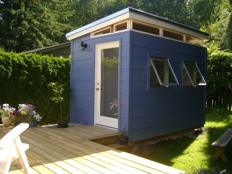 Best Backyard Bedroom Kit 8 X 12 Teenage Dream Modern Shed With Pictures