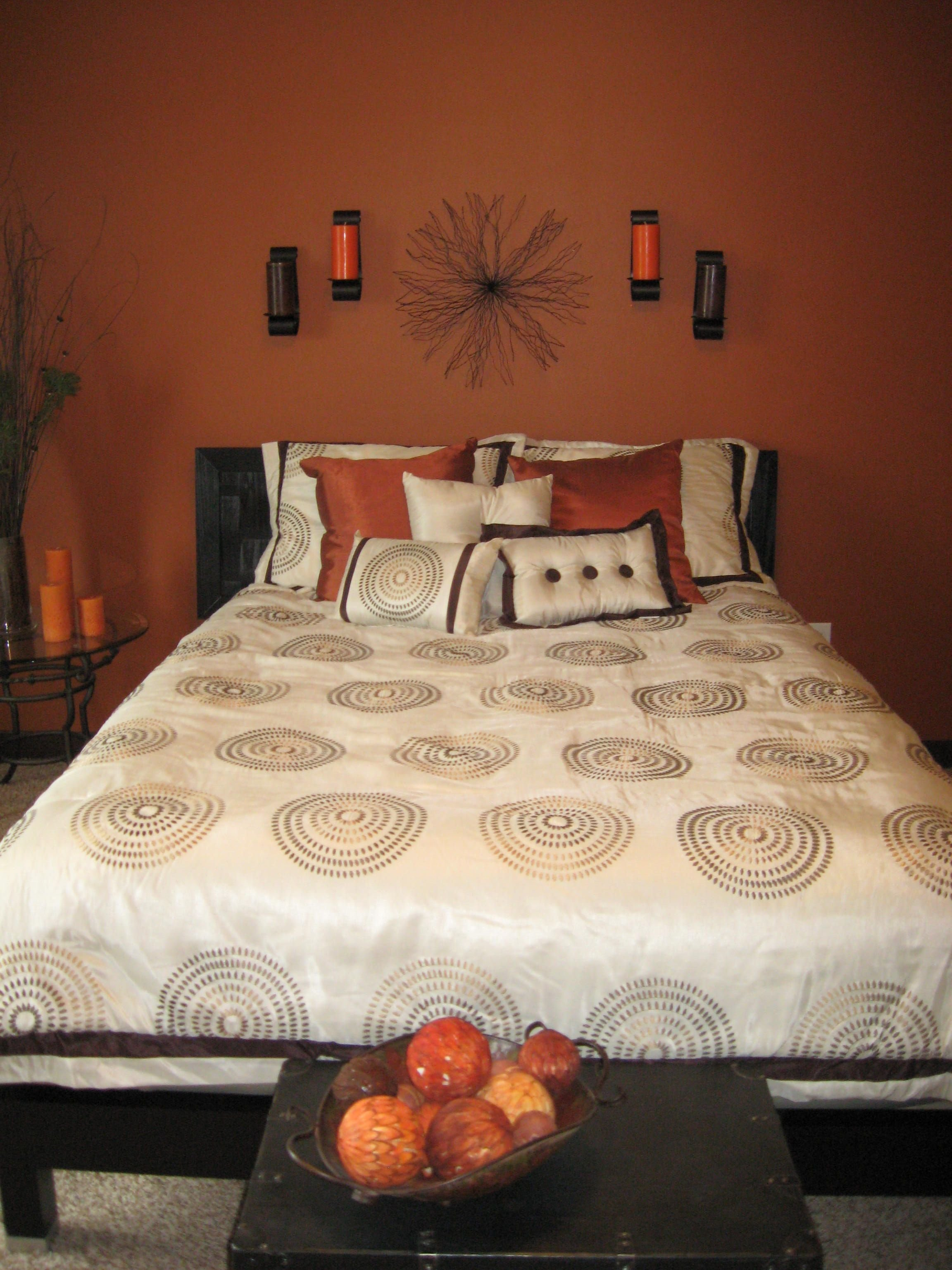 Best Burnt Orange Wall Color For Bedroom Home Decor In 2019 With Pictures