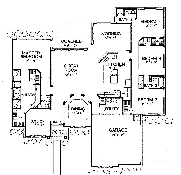 Best I Love This House Layout Open Floor Plan Split Plan Jack N Jill Bathroom And A Study For With Pictures