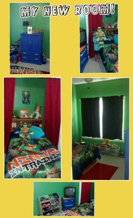 Best Teenage Mutant Ninja Turtles Bedroom For My 4 Year Old With Pictures
