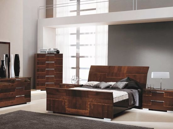 Best Pisa Bed Contemporary Italian Design With Zebra Wood With Pictures