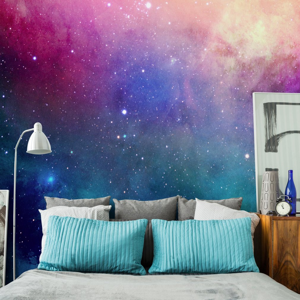 Best Water Color Galaxy Wall Mural Home Bedroom Murals With Pictures