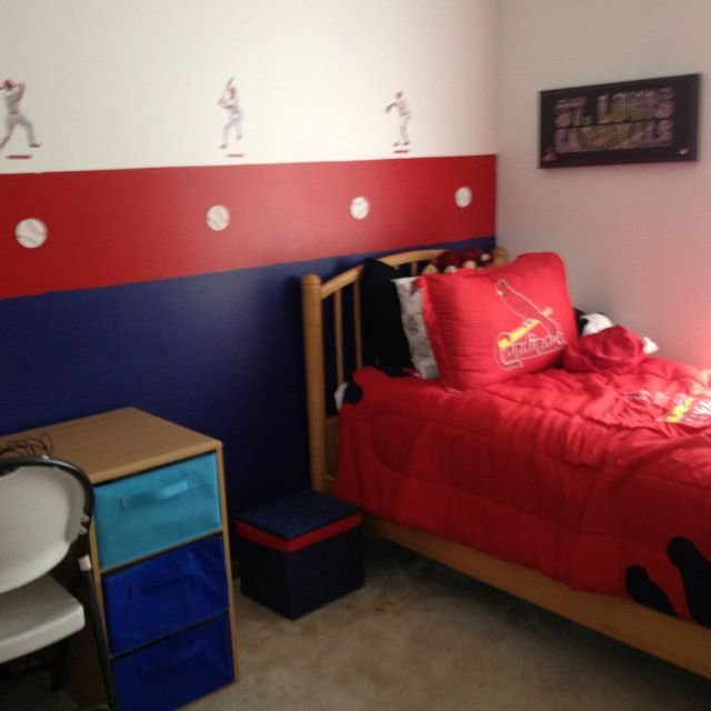 Best St Louis Cardinals Room A Surprise For My Little Guy With Pictures