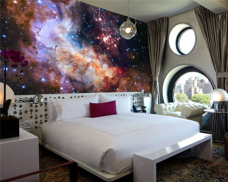 Best 3D Gorgeous Galaxy Photo Wallpaper Custom Silk Wallpaper Starry Night Wall Mural Art Painting With Pictures