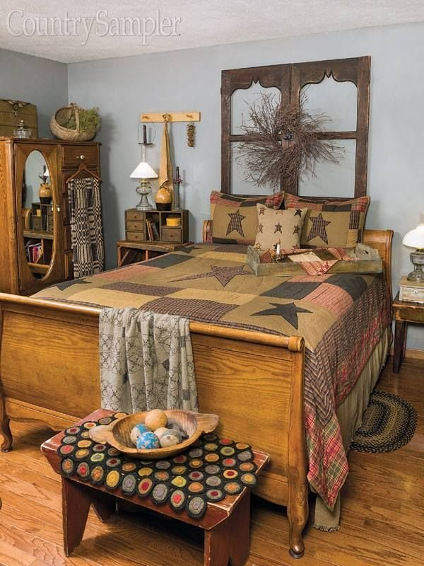 Best Country Bedroom Country Sampler Primitive With Pictures