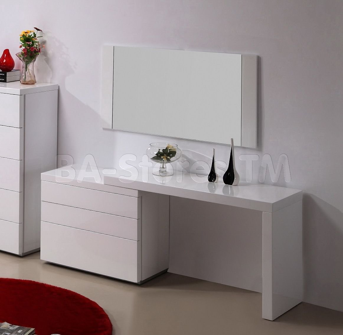 Best Athens 3 Pc Vanity Set In White Vanities And Mirrors Athens Vanity Wh 8 For My Bedroom With Pictures