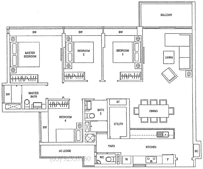 Best 4 Bedroom Condo Floor Plans Waterfront Gold Singapore With Pictures