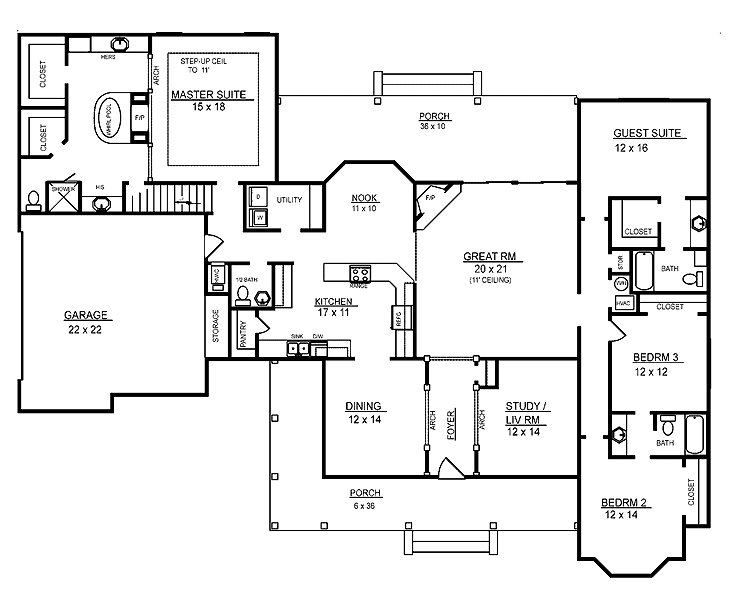 Best 4 Room House Plans Home Plans Homepw26051 2 974 Square With Pictures