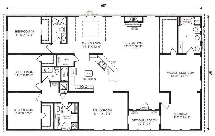 Best Ranch House Floor Plans Bedroom Love This Simple No With Pictures