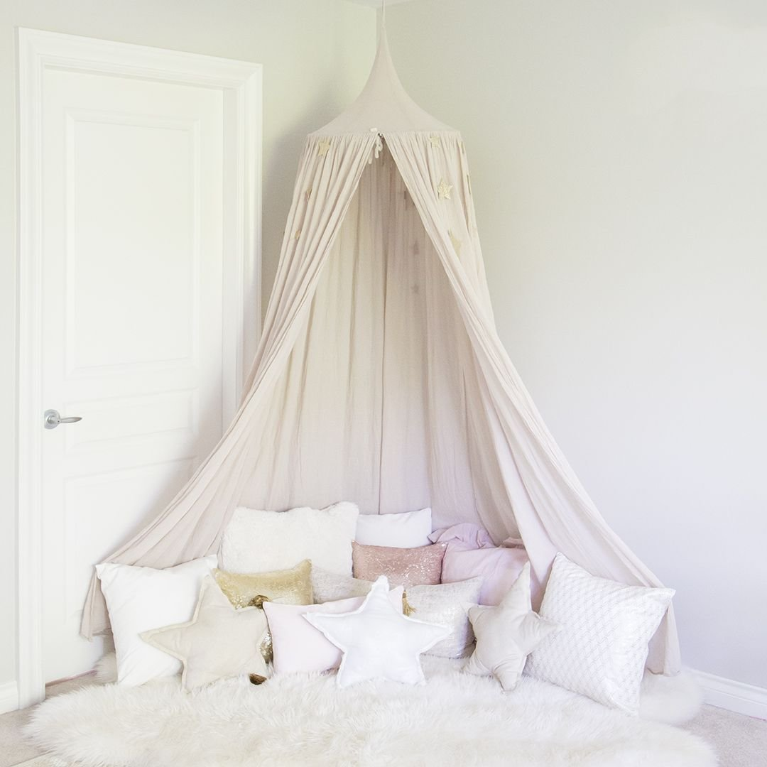 Best Pink Canopy With Pillows In Girl Room For The Girls In With Pictures