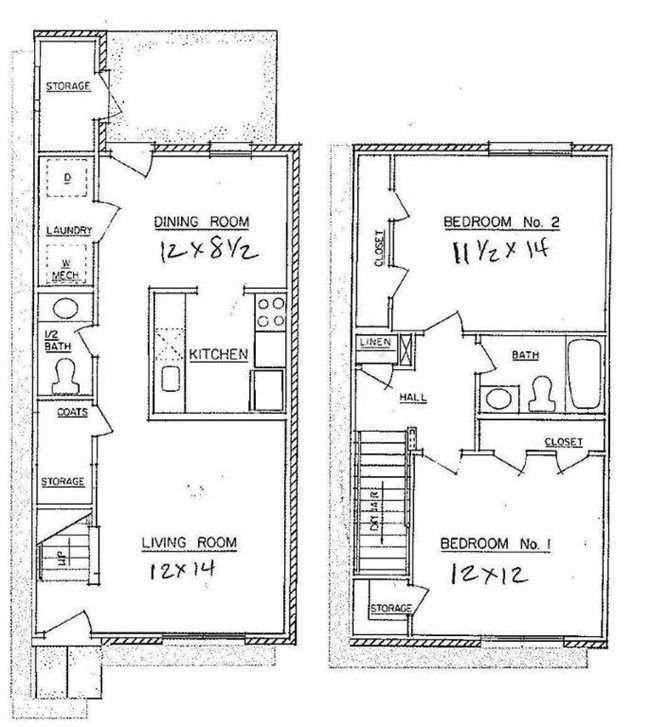 Best 2 Bedroom Town Home Westwood Apartments Floor Plans With Pictures