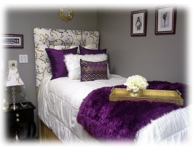 Best Purple White And Gold Dorm Room Google Search Dorm With Pictures