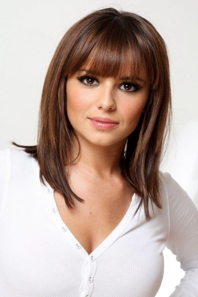 Free Medium Length Hairstyles With Bangs For Fine Hair Beauty Wallpaper