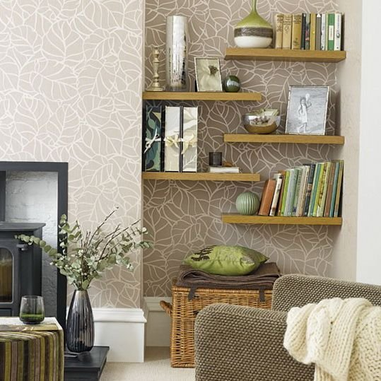 Best Floating Wall Shelves Decorating Ideas Alcove Storage With Pictures
