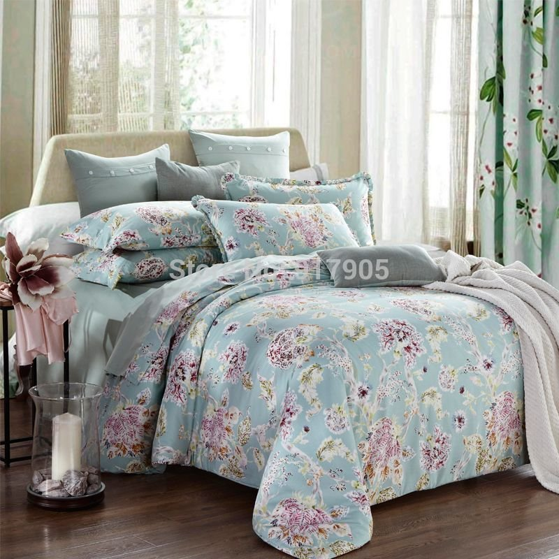 Best European Country Style Duvet Covers Modern Vintage Floral Printing Comforters Bedding Sets With Pictures