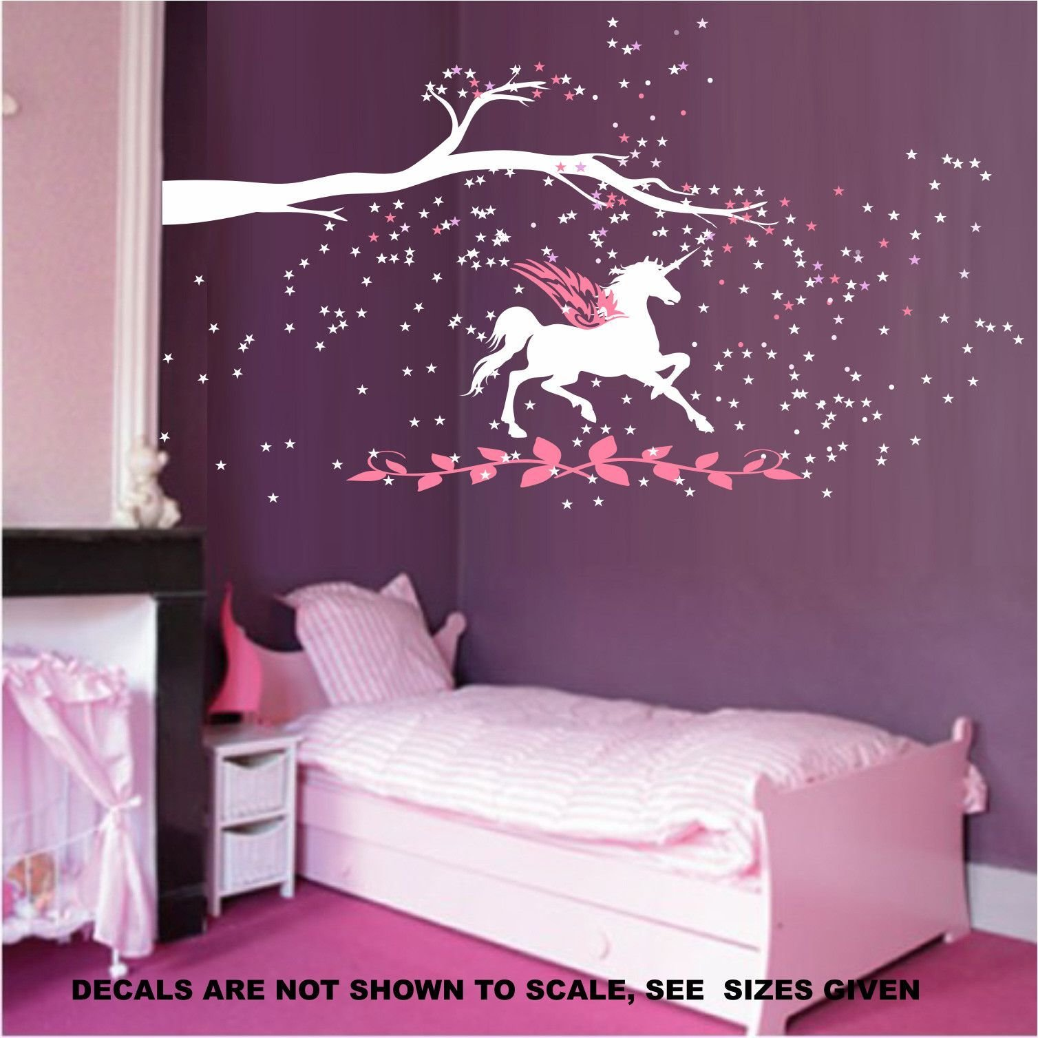 Best Unicorn Fantasy Girls Bedroom Wall Art Sticker Vinyl Decal With Pictures