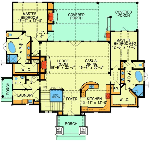 Best Plan 15800Ge Dual Master Suites In 2019 Dual Master With Pictures