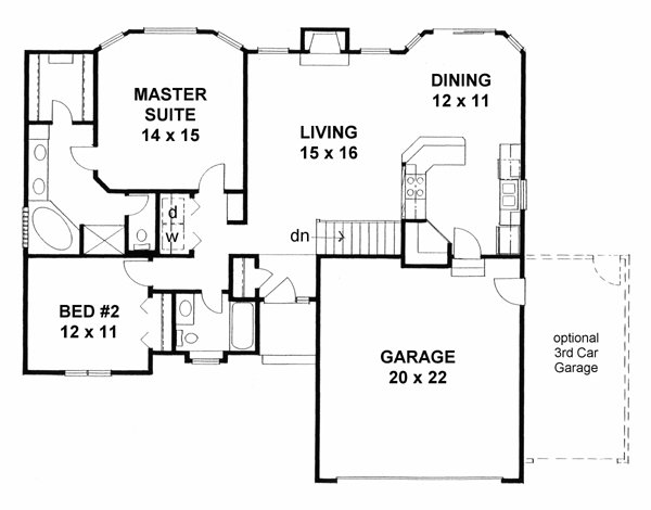 Best Traditional House Plan 62610 With 2 Beds 2 Baths 2 Car With Pictures
