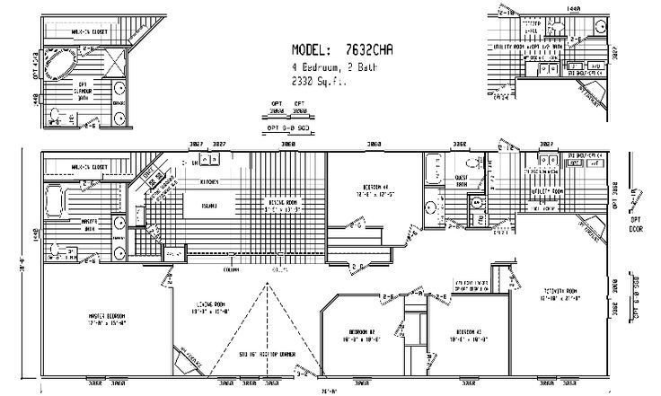 Best Quadruple Wide Mobile Home Floor Plans 5 Bedroom 3 With Pictures