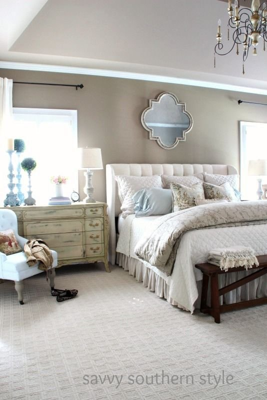 Best Neutral Cozy Master Farmhouse Style Bedroom Decor With Pictures
