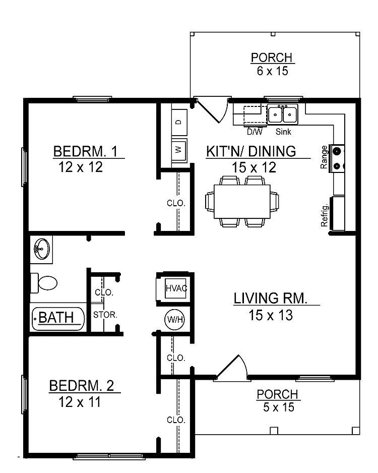 Best Small 2 Bedroom Floor Plans You Can Download Small 2 With Pictures