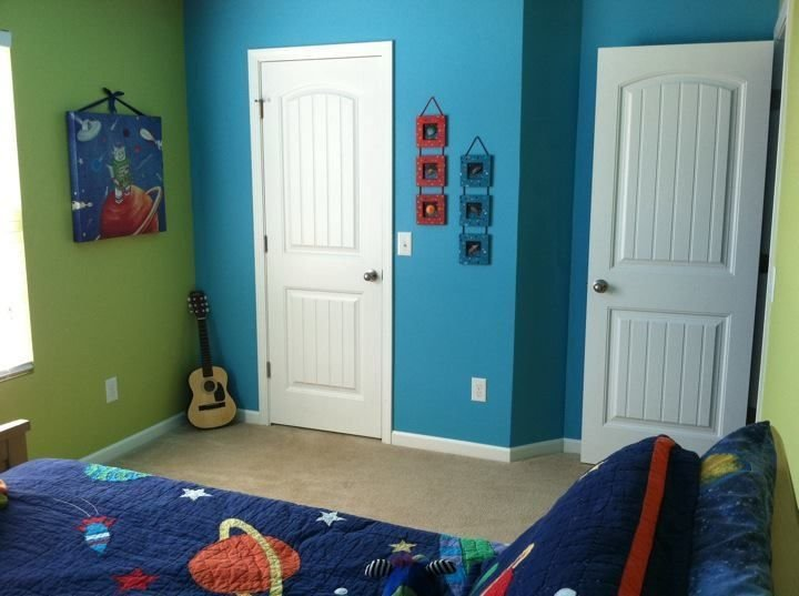 Best Blue Green Boys Bedroom Walls Boys S Bedroom Painted With Pictures