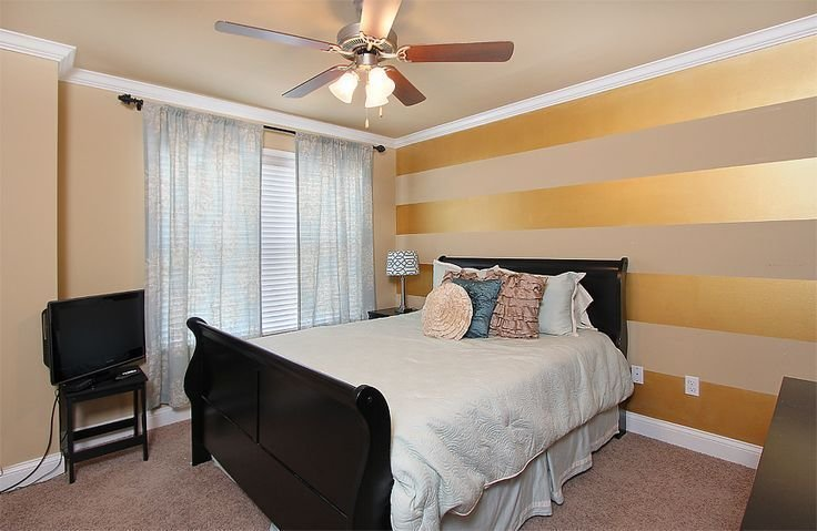 Best Gold Accent Wall Bedroom Google Search Glam Farmhouse Accent Wall Bedroom Striped Accent With Pictures