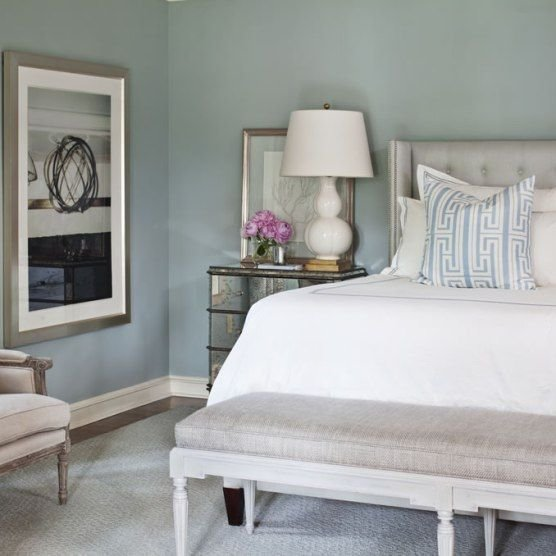 Best Bedroom Blue Gray Paint Sherwin Williams Silver Mist With Pictures