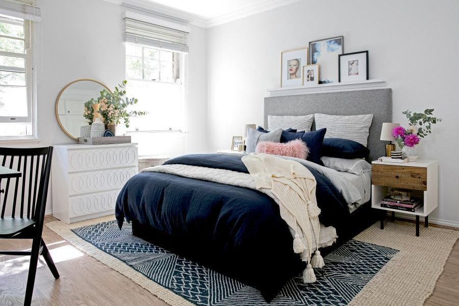 Best 5 Fantastic Blush Blue And Gray Spaces Bedroom With Pictures