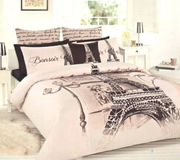 Best Details About Paris Eiffel Tower Beige Brown Black Double With Pictures