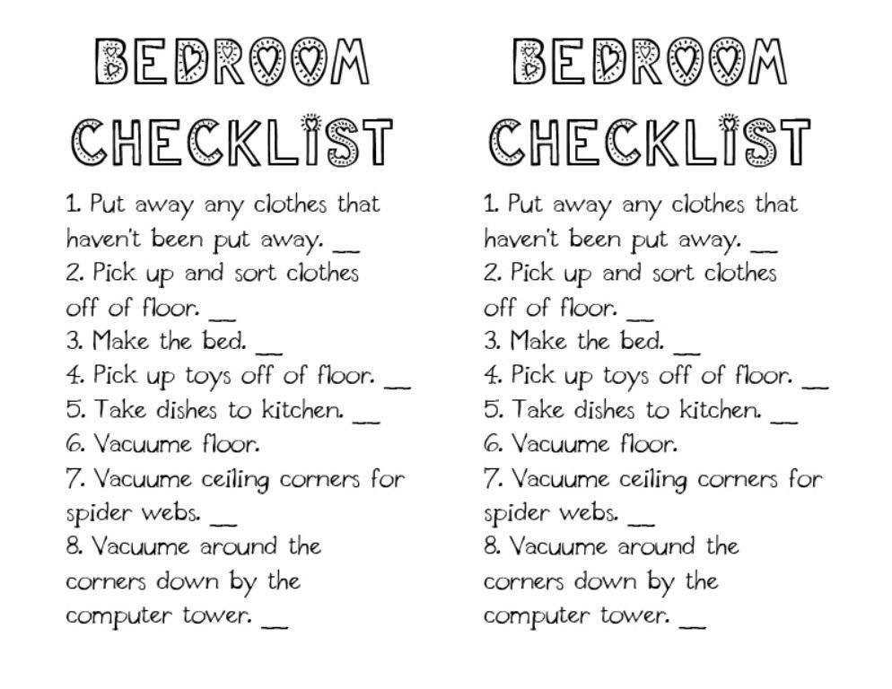 Best Daily Bedroom Cleaning Checklist Google Search With Pictures