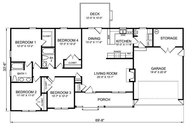 Best 4 Bedroom Ranch House Plans Plan W26331Sd Ranch With Pictures
