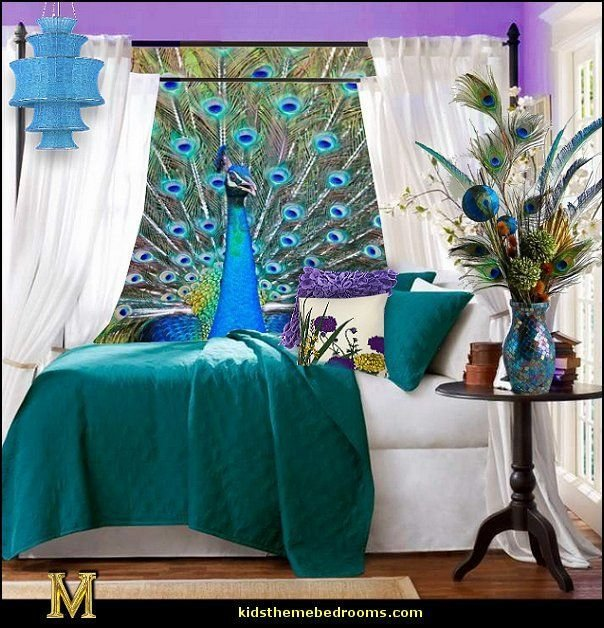 Best Peacock Colors Decorating Ideas Decorating Peacock Theme Decor Exoic Style Decorating With Pictures