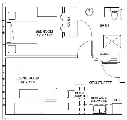 Best One Bedroom House Plans One Bedroom Floorplans Find With Pictures
