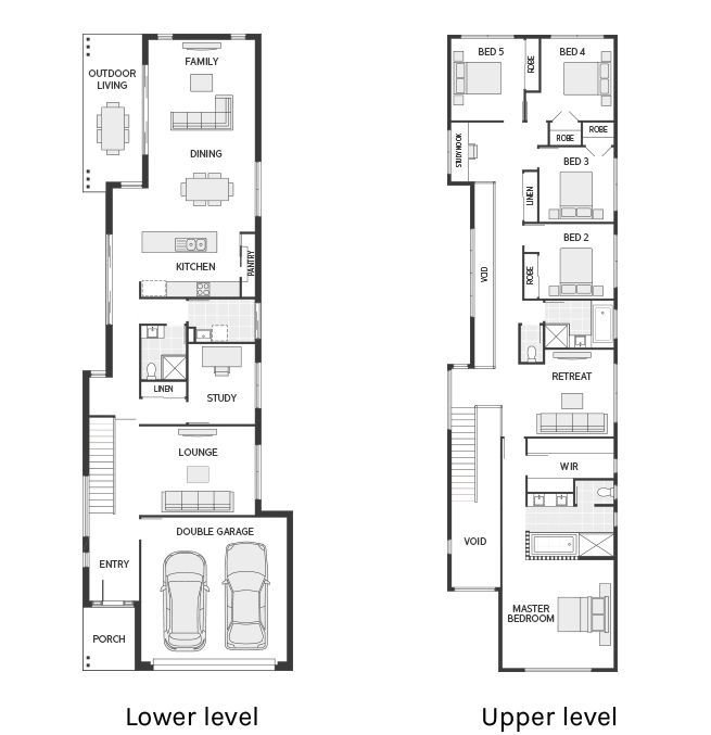 Best Floor Plan Friday Narrow But Large 2 Storey Home Houses With Pictures