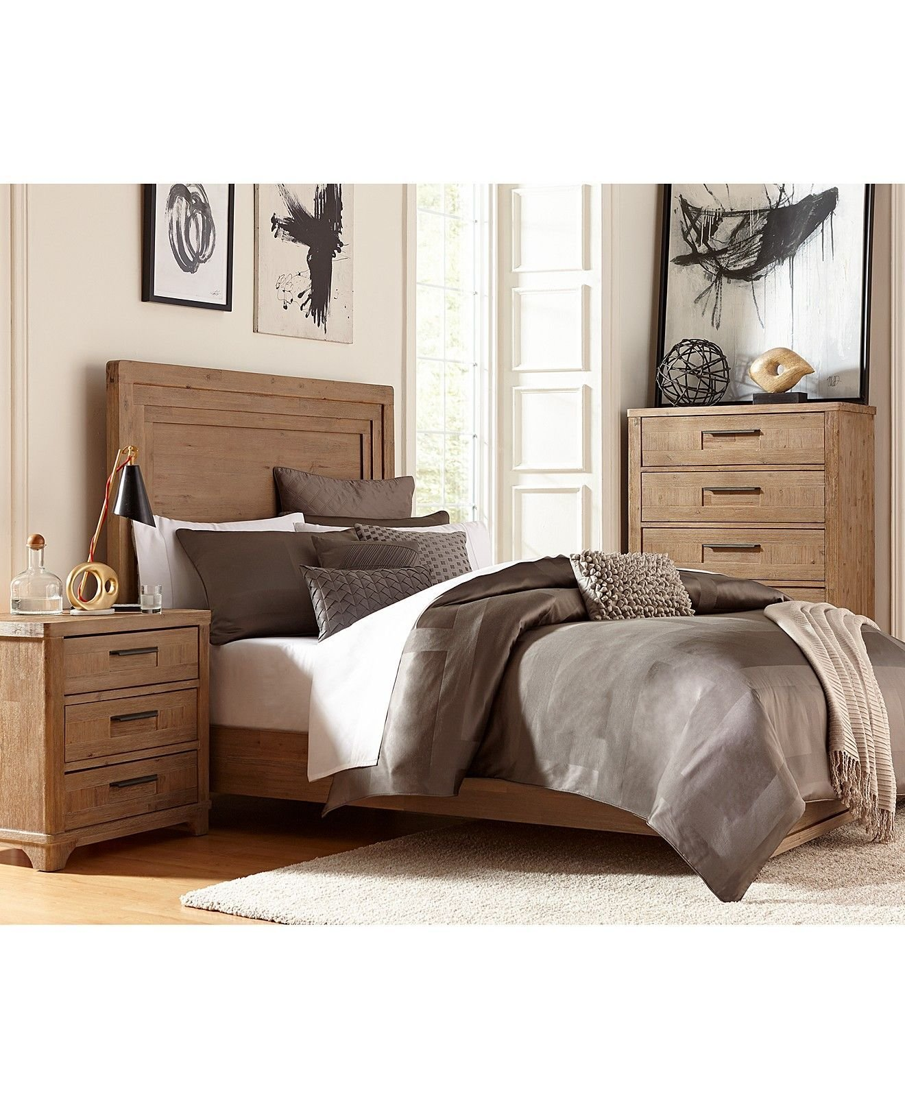 Best Summerside 3 Piece Queen Bedroom Furniture Set With Chest Shop All Bedroom Furniture Macy With Pictures